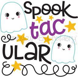 Spooktacular Ghosts SVG