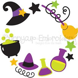 Witch Monogram Frame SVG