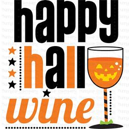 Happy Hallo Wine SVG