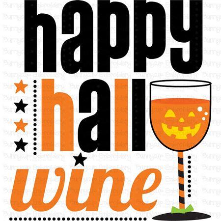 Happy Hallo Wine SVG