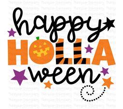 Happy Holla Ween SVG