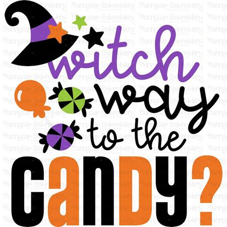 Witch Way To The Candy SVG