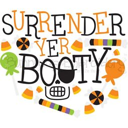 Surrender Yer Booty SVG