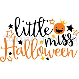 Little Miss Halloween SVG
