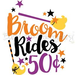 Broom Rides 50c SVG