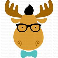 Hipster Animal Faces SVG