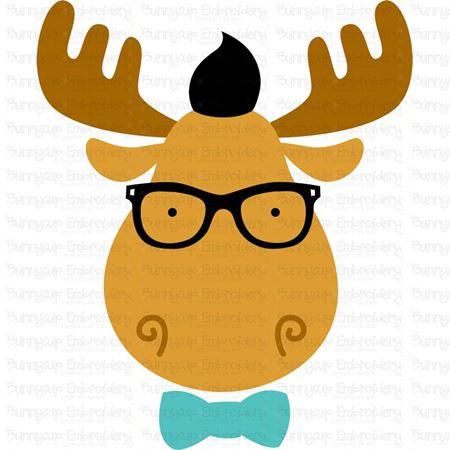 Hipster Moose Face SVG