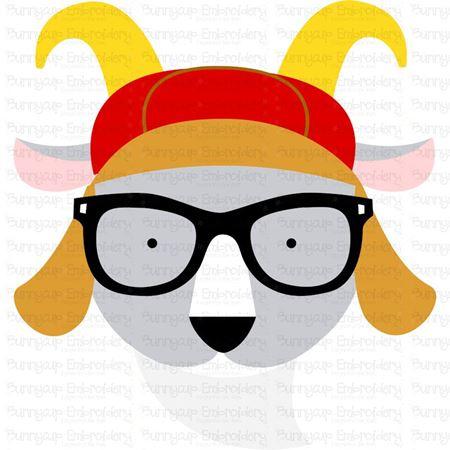 Hipster Goat Face SVG