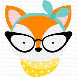 Hipster Fox Face SVG