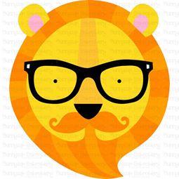 Hipster Tiger Face SVG