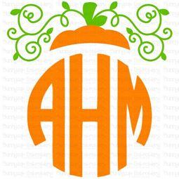 Pumpkin Monogram Topper SVG