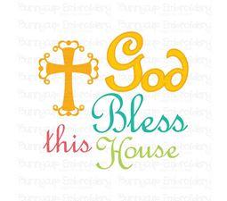 God Bless This House SVG