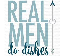 Real Men Do Dishes SVG