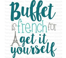 Buffet is French For Get It Yourself SVG