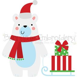 Christmas Polar Bear SVG
