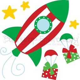 Christmas Rocket SVG