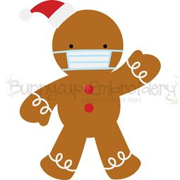 Face Mask Gingerbread Man SVG