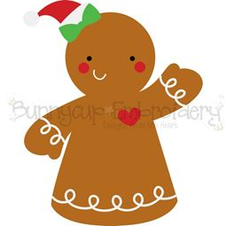 Christmas Gingerbread Girl SVG