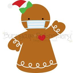 Face Mask Gingerbread Girl SVG