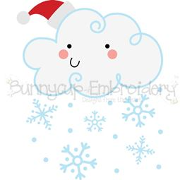 Christmas Snow Cloud SVG