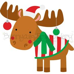 Christmas Moose SVG