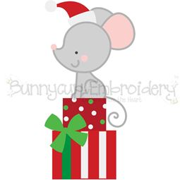 Christmas Mouse SVG
