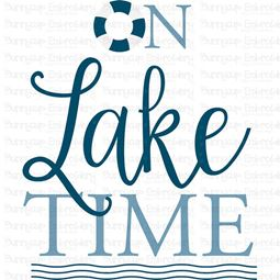 On Lake Time SVG