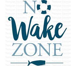 No Wake Zone SVG