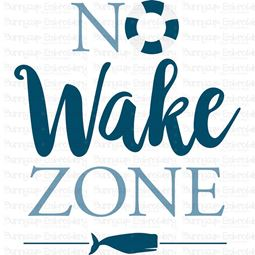 No Wake Zone SVG