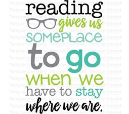 Reading Gives Up Someplace To Go SVG