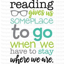 Reading Gives Us Someplace To Go SVG