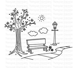 Park Bench SVG