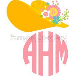 Southern Belle Hat Monogram Topper SVG