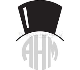 Top Hat Monogtam Topper SVG