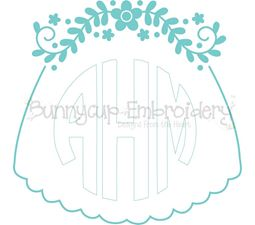Bridal Veil Monogram Topper SVG
