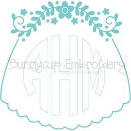Bridal Veil Monogram Topper SVG