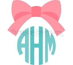 Bow Monogram Topper SVG