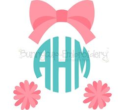Cheerleader Monogram Topper SVG