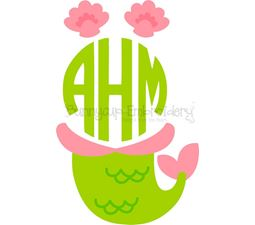 Mermaid Monogram Topper SVG