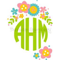 Floral Monogram Topper SVG