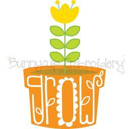 Grow Flowerpot SVG