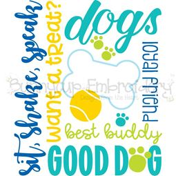 Dog Subway Art SVG