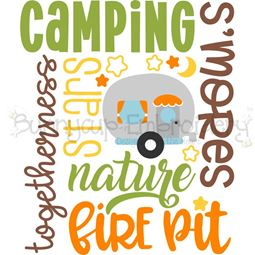 Camping Subway Art SVG