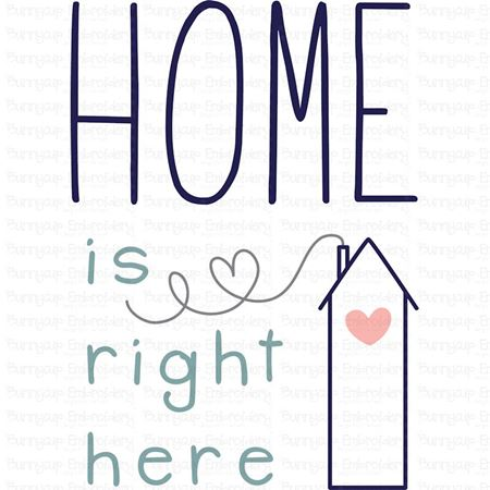 Home Is Right Here SVG
