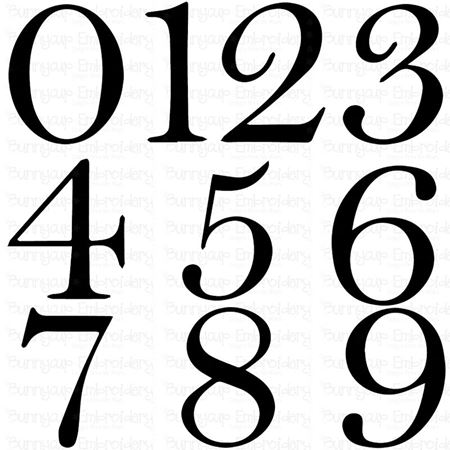 Est Numbers Set SVG
