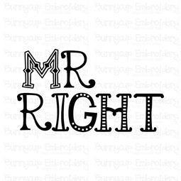 Mr Right SVG