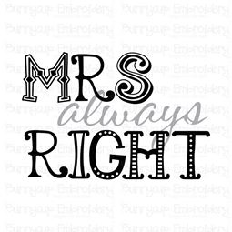 Mrs Always Right SVG