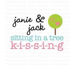 Janie And Jack Sitting In A Tree SVG