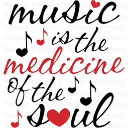 Music Is The Medicine Of The Soul SVG