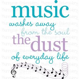 Music Washes Away The Dust SVG